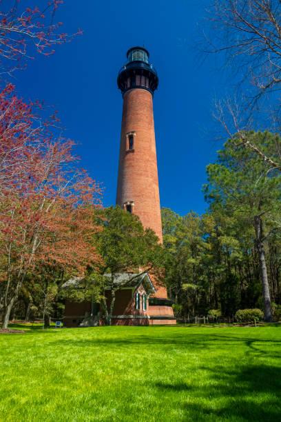 Curituck Beach Lighthouse Park, Outer Banks, North Carolina stock photo