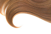 Brown ponytail isolated on white
