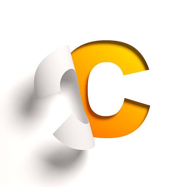 curl papel fonte letra c - c - fotografias e filmes do acervo