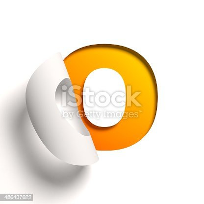 istock Curl paper font letter O 486437622