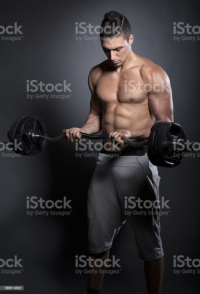 Curl with Barbell royalty-free stock photo