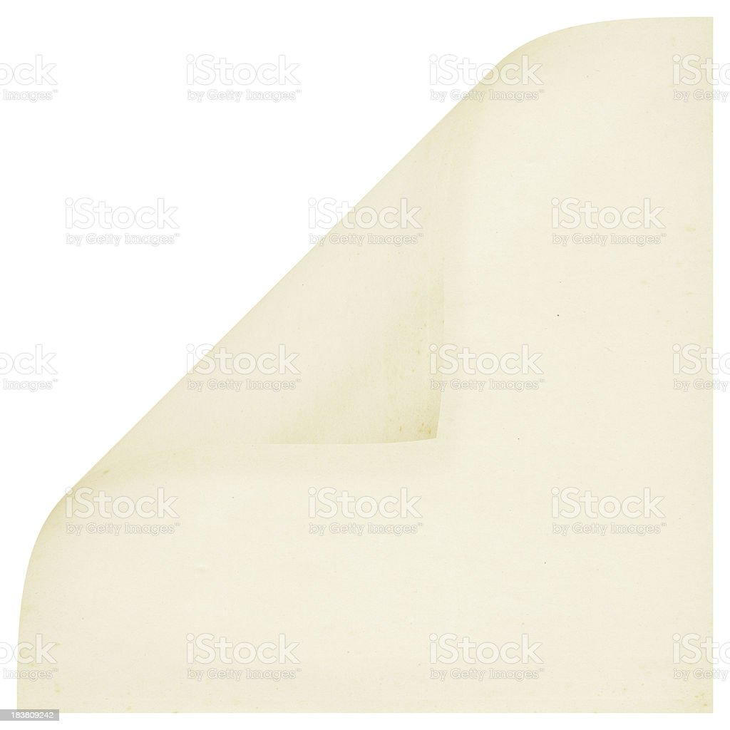 Curled A4 Square Blank Paper (High Resolution Image) royalty-free stock photo