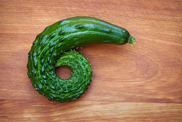 Curled Cucumber stock photo