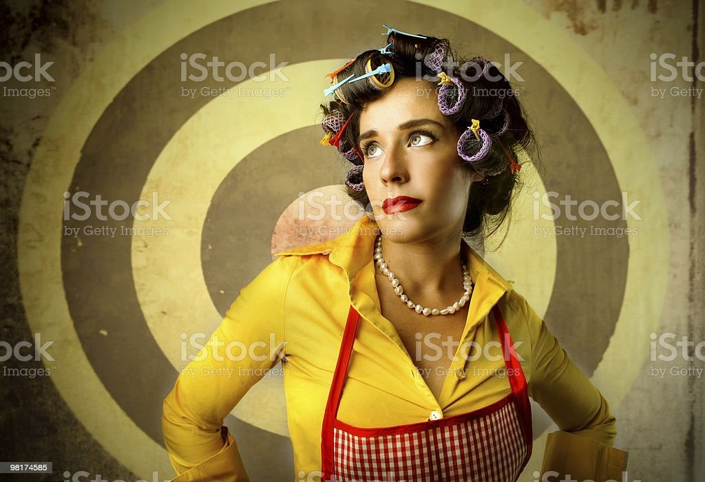 curlers royalty-free stock photo