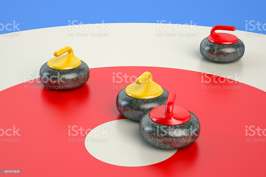 Curling concept stock photo