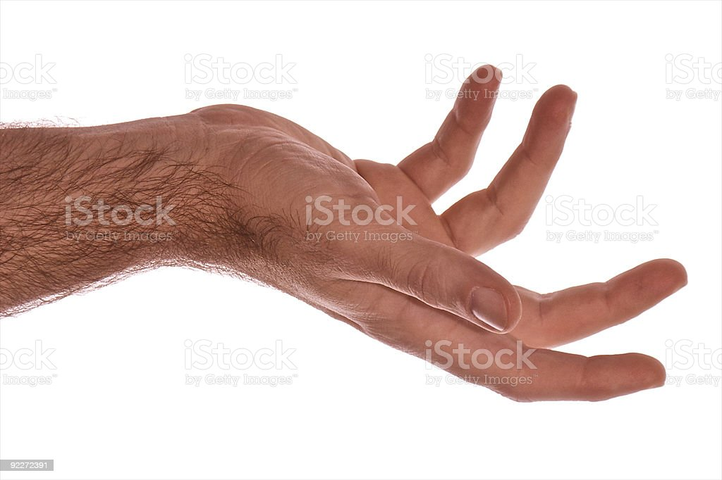 curling fingers stock photo