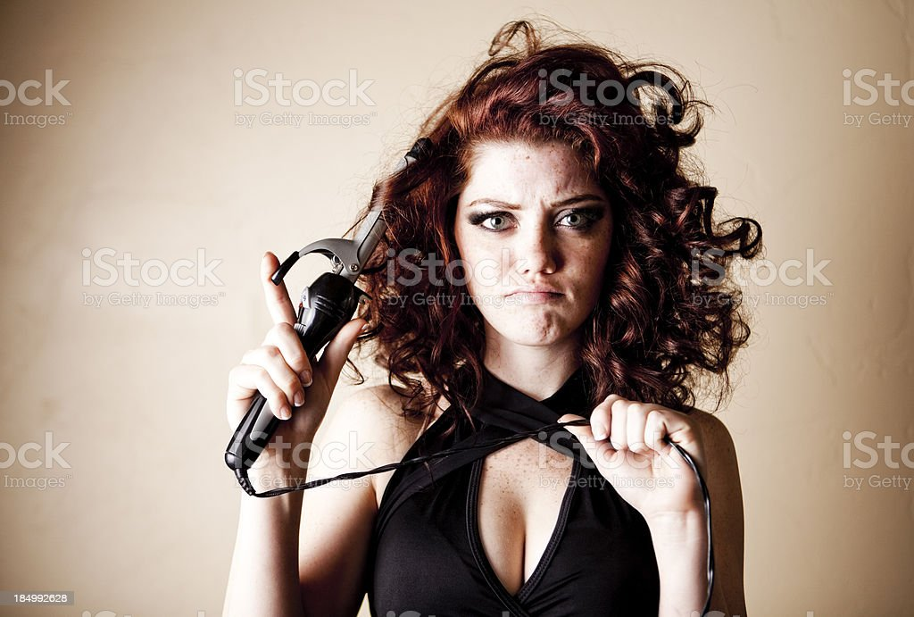 Curling Hair Series royalty-free stock photo