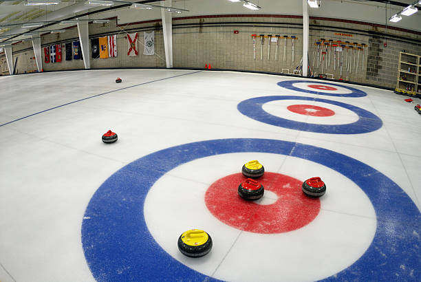 Curling Rink stock photo