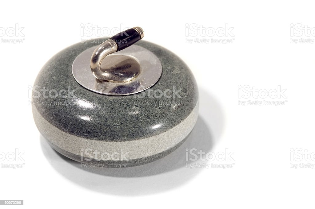 Curling Stone royalty-free stock photo