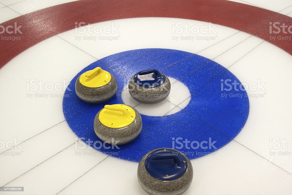 Curling Stones stock photo