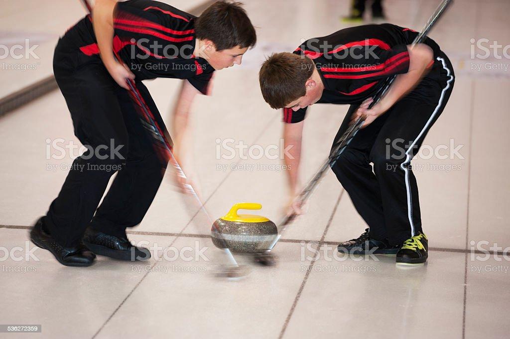 Curling sweeping