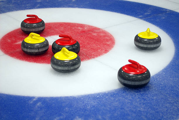 Curling Target stock photo