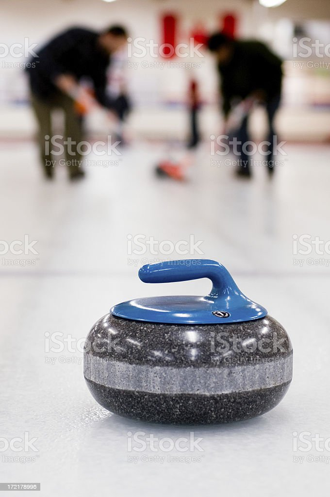 Curling Team in Action royalty-free stock photo
