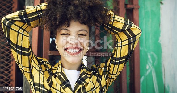 Shot of an attractive young woman in an urban setting