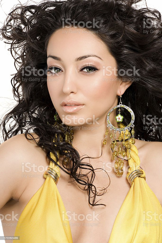 Curly Beauty royalty-free stock photo