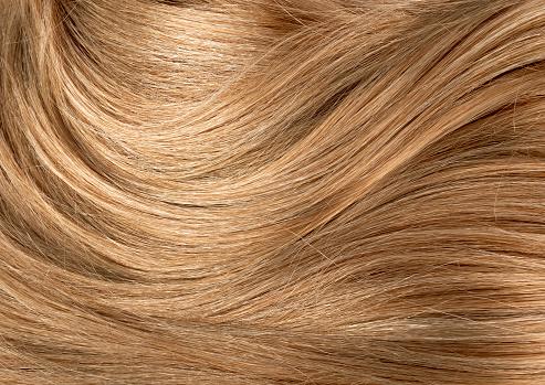 Long blond human shiny hair background. Blond Hair Texture