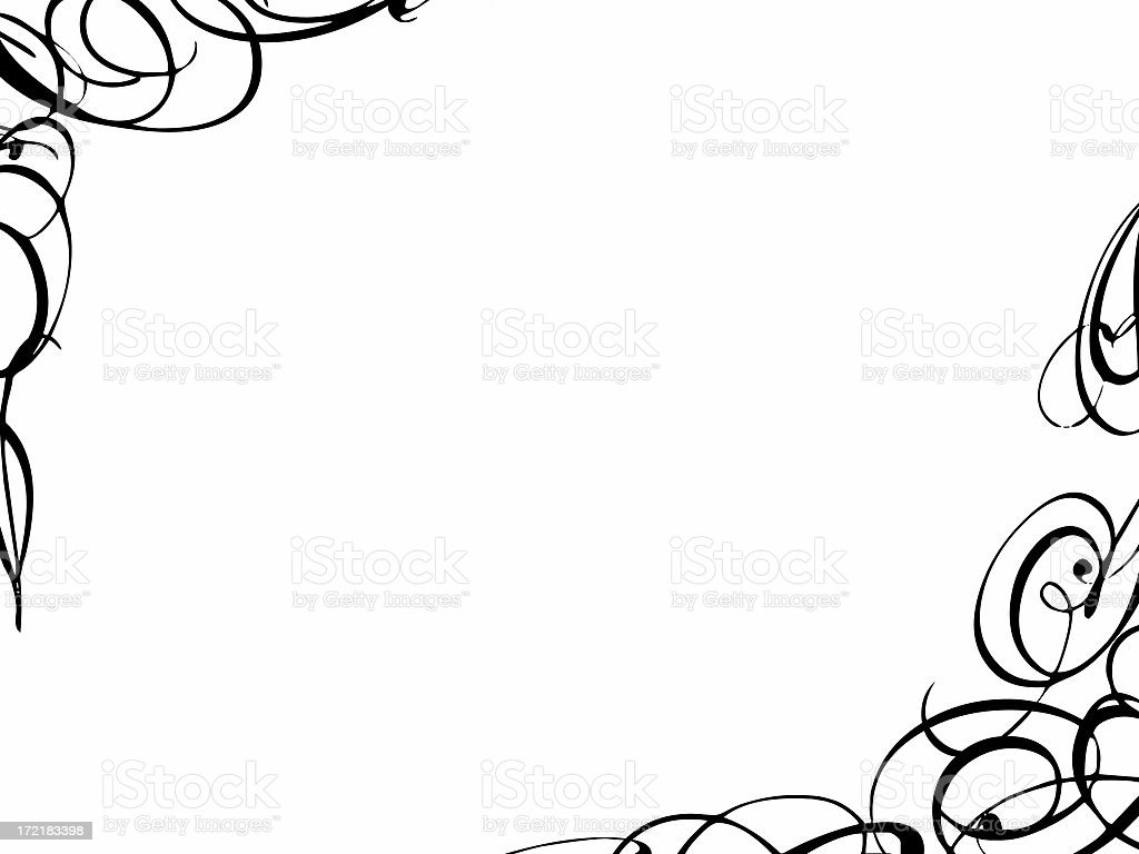 Curly border stock photo