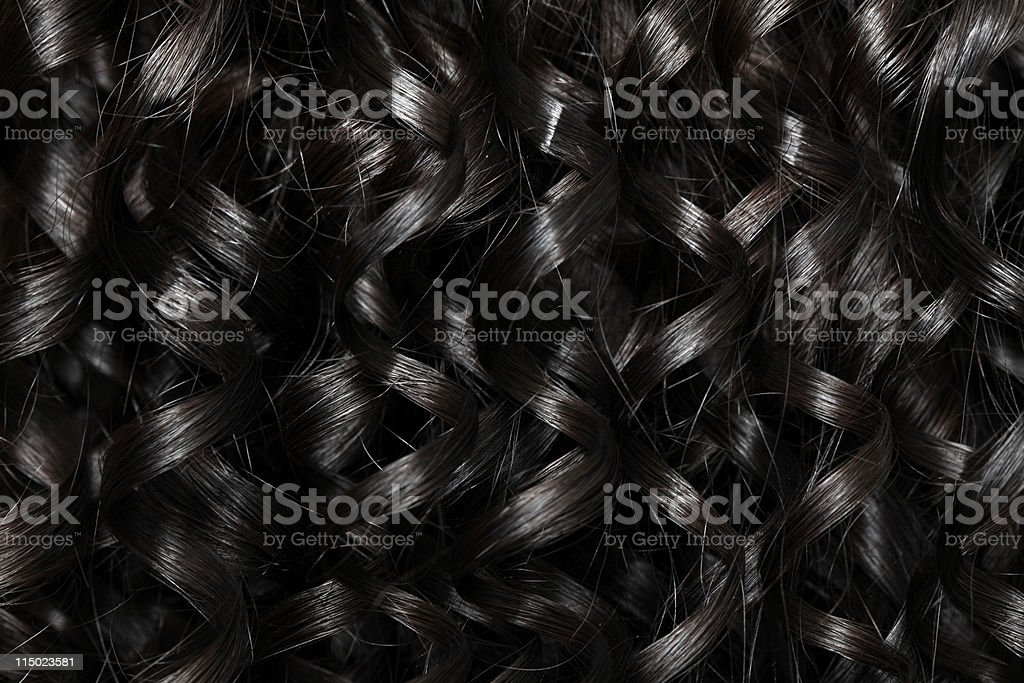 Curly Brunette Hair Background stock photo