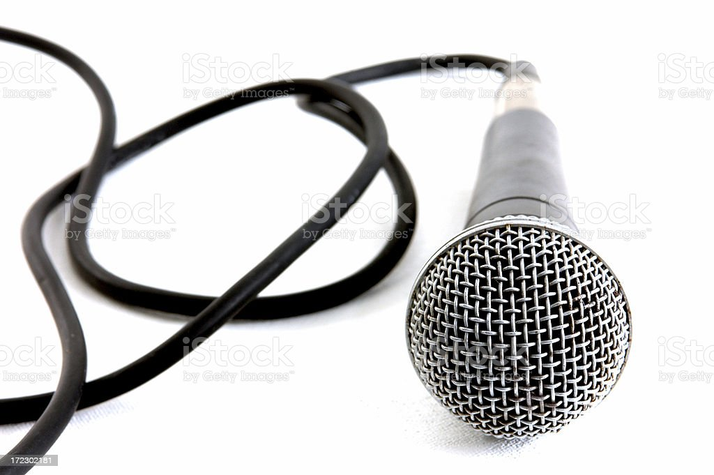 Curly Cable & Mic royalty-free stock photo