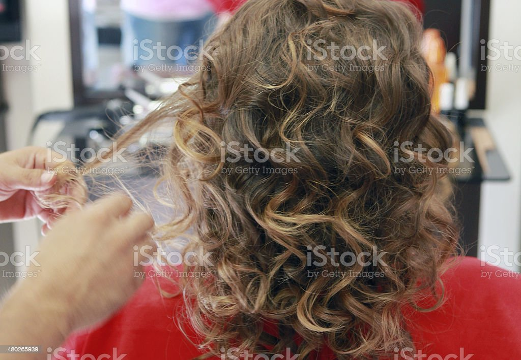 Curly Hair 2 stock photo