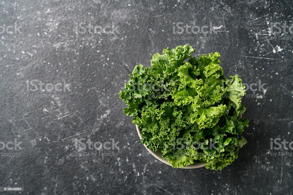 curly kale stock photo