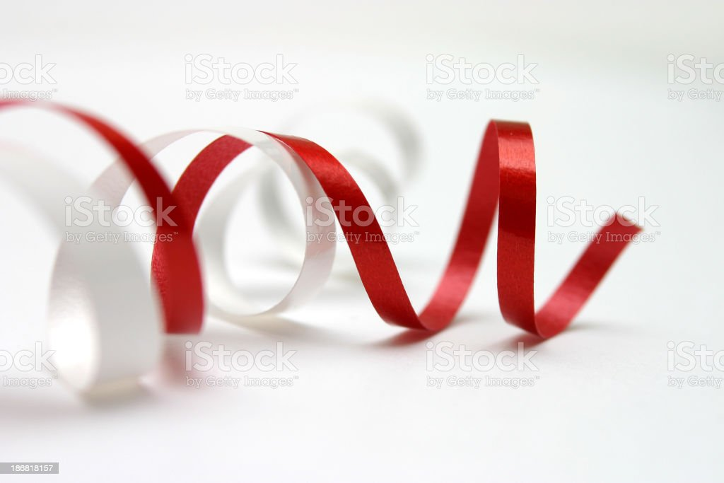 curly loop from a ribbon bow : christmas time royalty-free stock photo