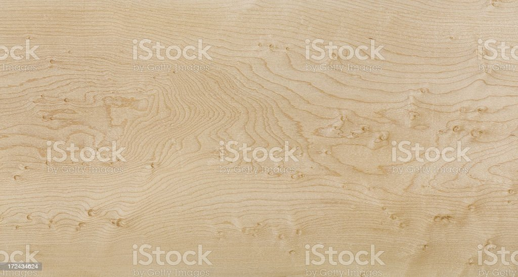 Curly Maple Wood Grain Background stock photo
