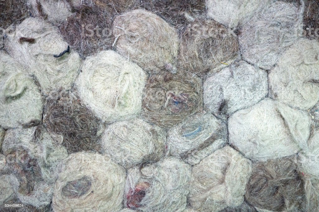 curly wool texture , close up stock photo