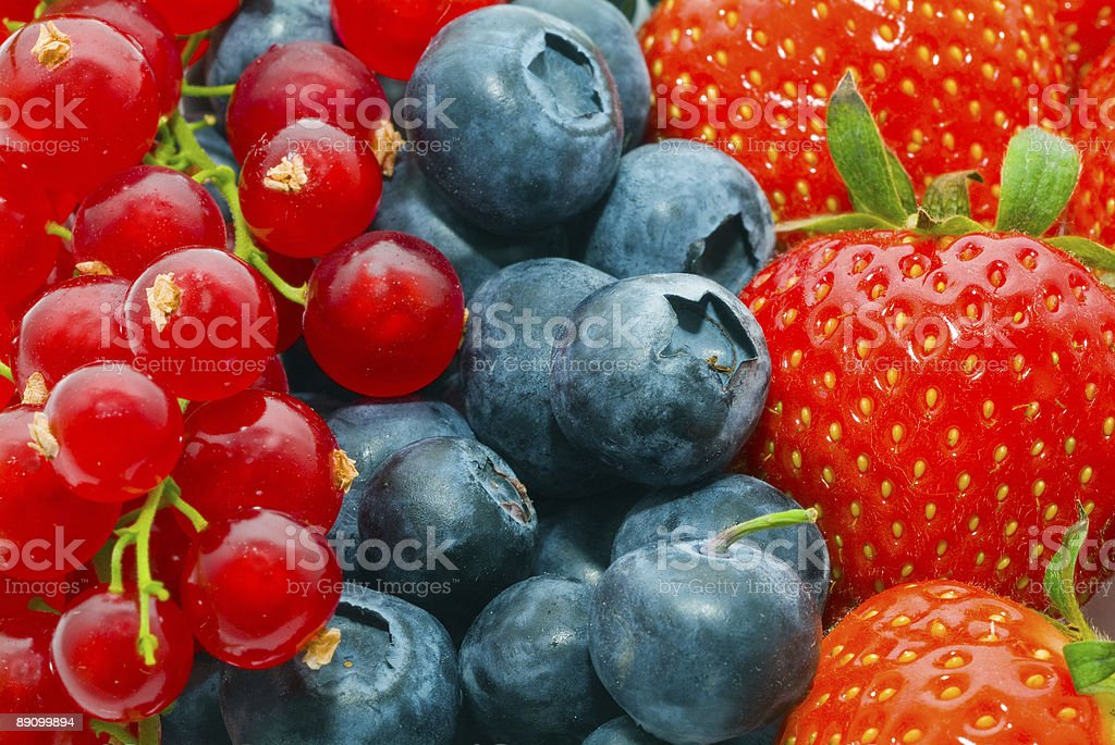 Currant, blueberry, strawberry royalty-free stock photo