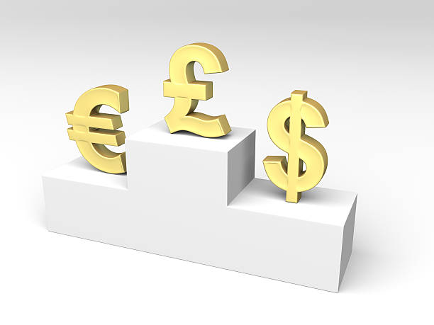 currencies exchange rates - rates stock photos and pictures