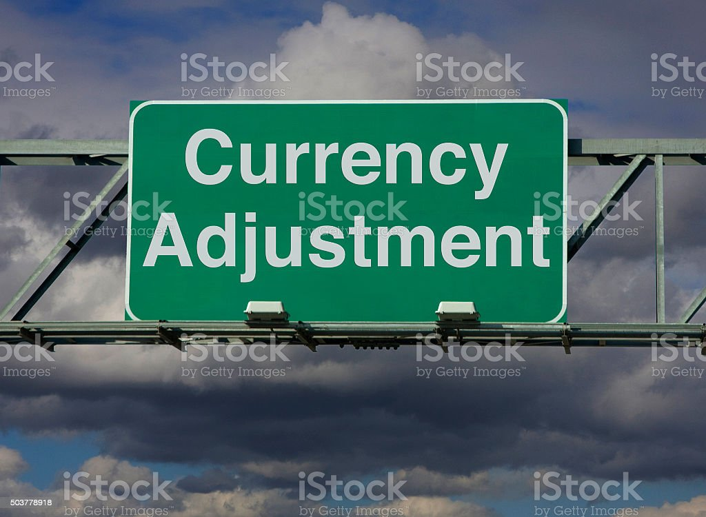 Currency Adjustment stock photo