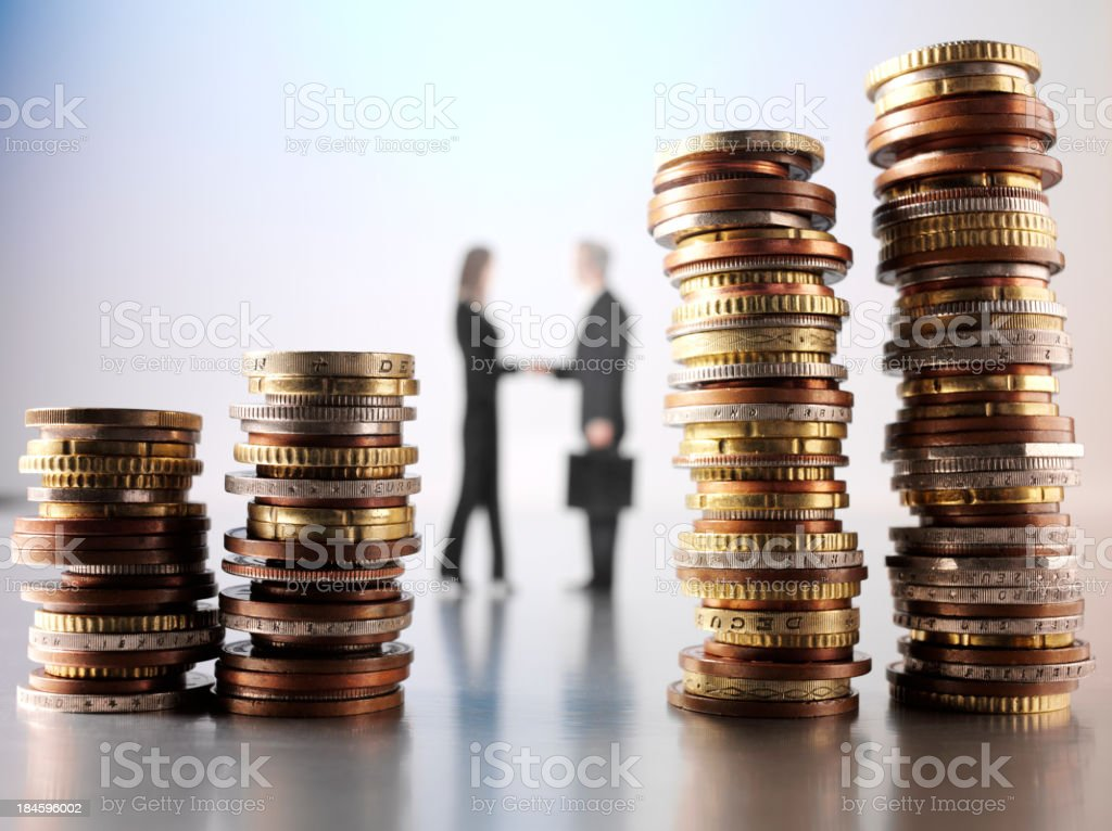 Currency Agreement royalty-free stock photo