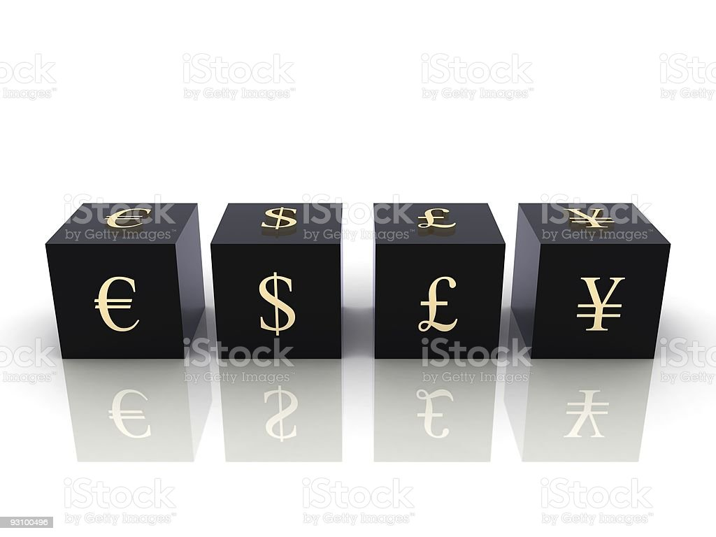 Currency Blocks royalty-free stock photo