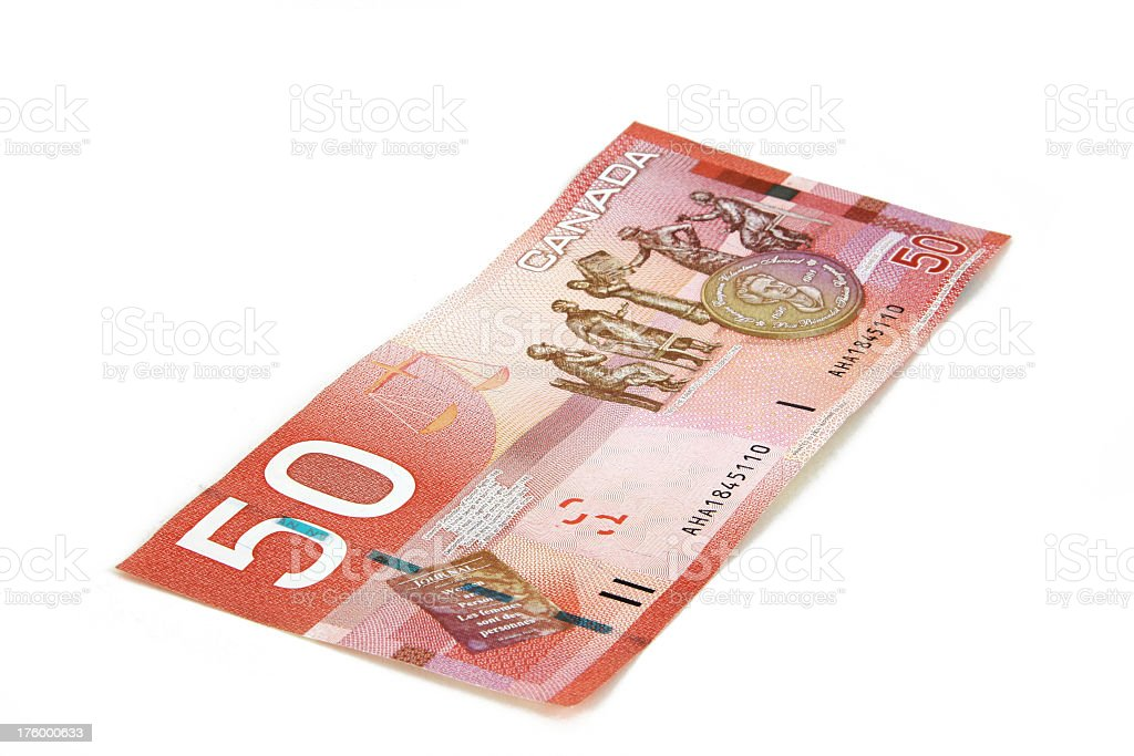 Currency - Canadian Fifty royalty-free stock photo