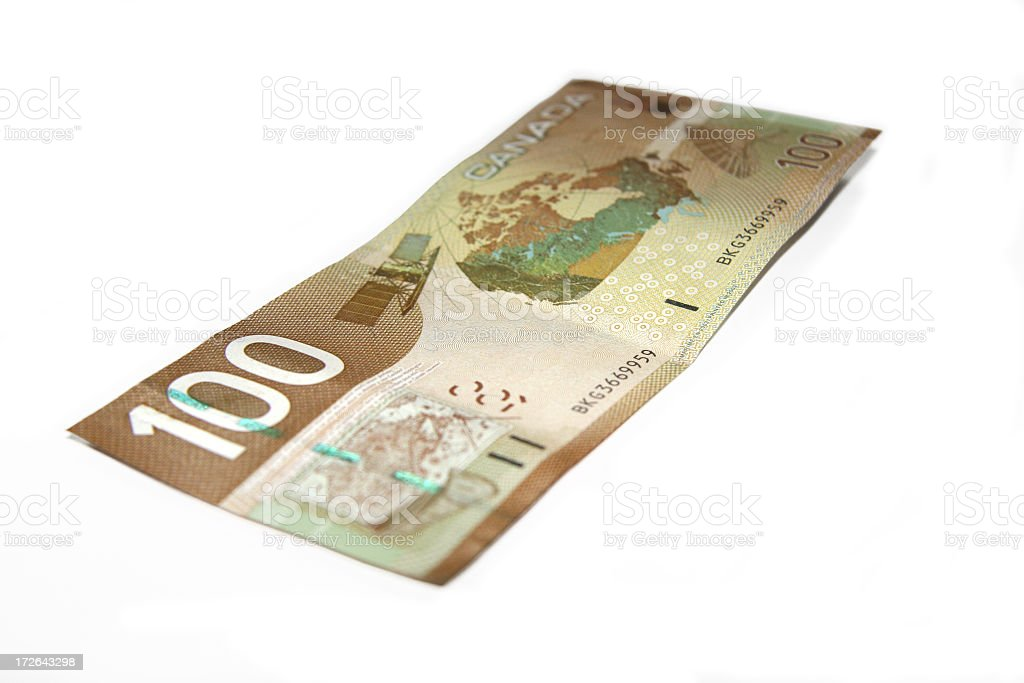 Currency - Canadian Hundred royalty-free stock photo