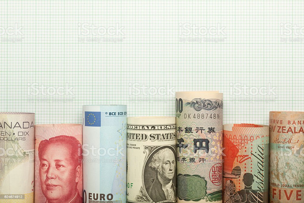 Currency chart stock photo