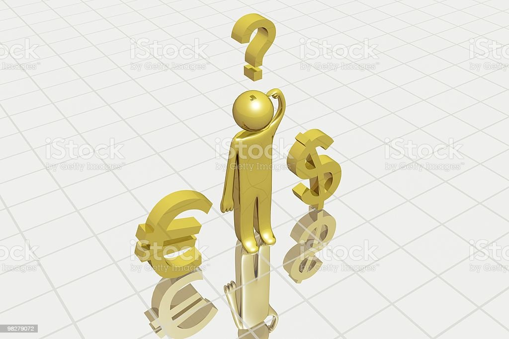 Currency choice royalty-free stock photo
