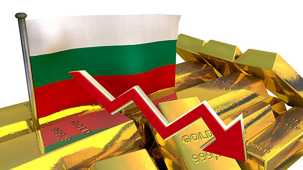 currency collapse - Bulgarian lev stock photo