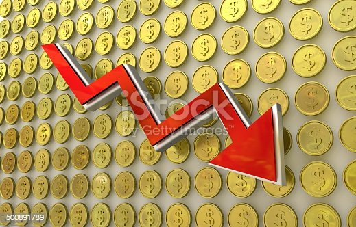 istock currency collapse - dollar 500891789