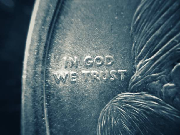 USA Currency detail of In God We Trust stock photo