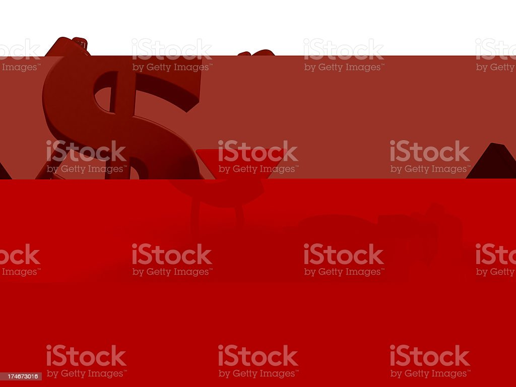 Currency diagram royalty-free stock photo