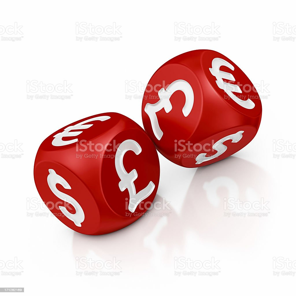 currency dices royalty-free stock photo
