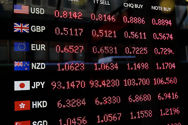 Currency Exchange Rates stock photo