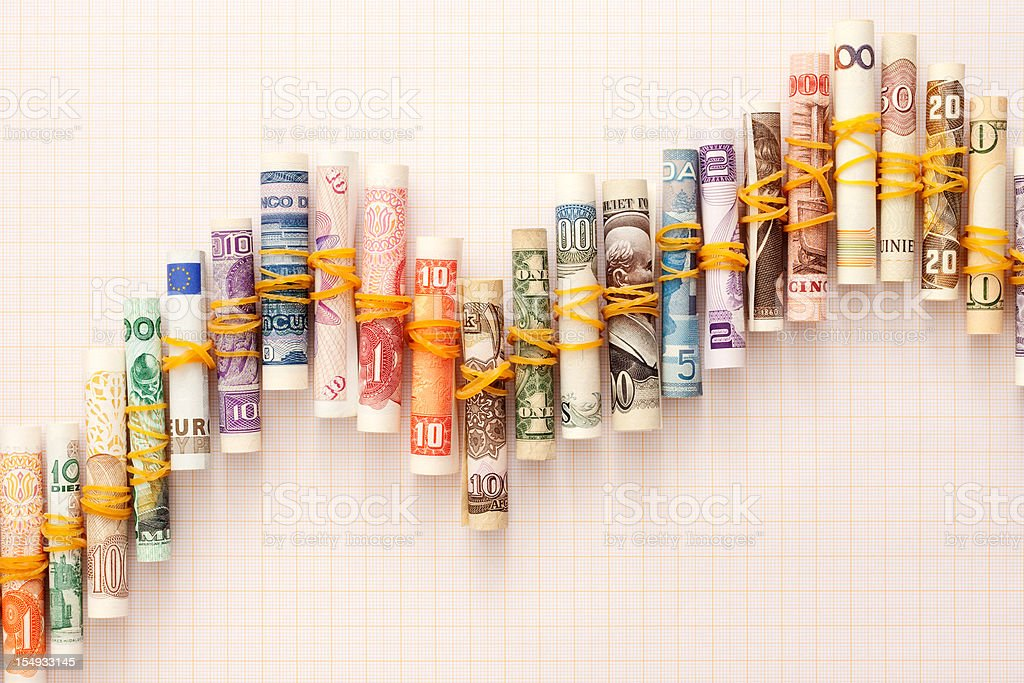 Currency fluctuations royalty-free stock photo