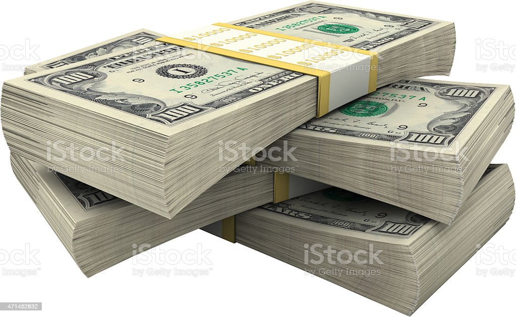 Currency, Folded the stack, the Heap, the dollar stock photo