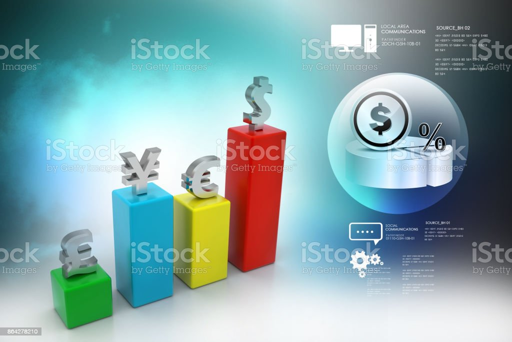 Currency graph royalty-free stock photo