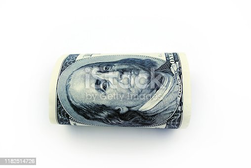 USA currency isolated background