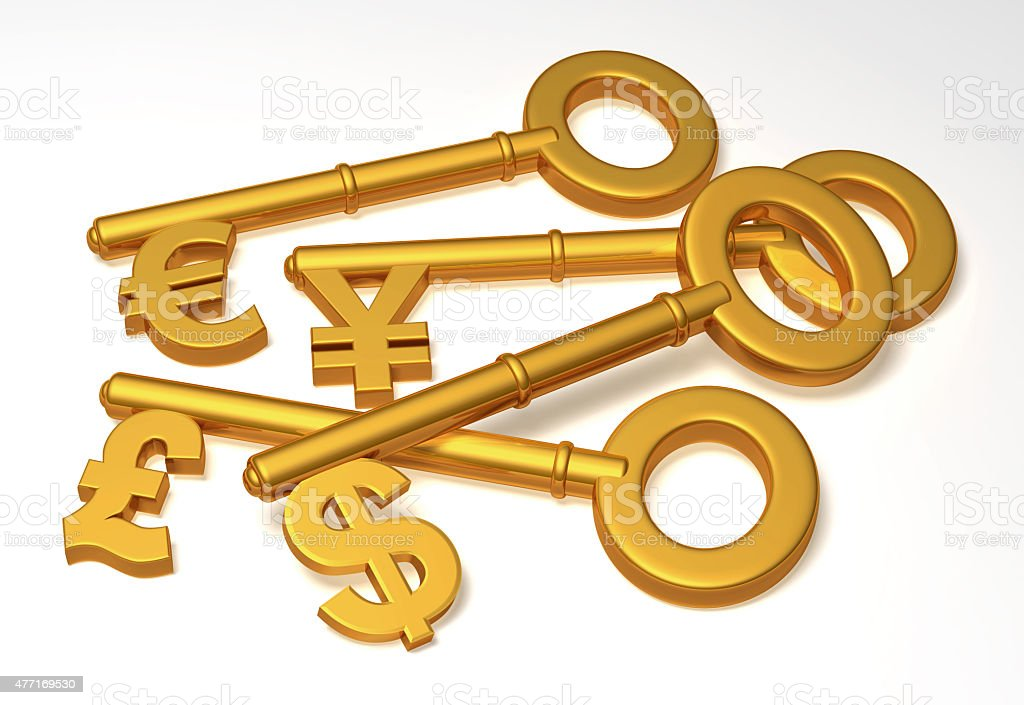 Currency keys stock photo