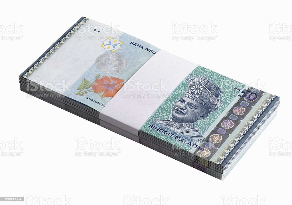 Currency- Malaysia Ringgit stock photo