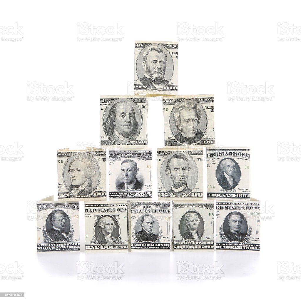 US Currency Money Tree stock photo